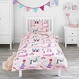 Bloomsbury Mill - Juego de cama para niño - Funda nórdica y funda de almohada 135cm x 200cm - Unicornios,...