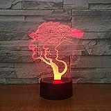Whennine Noten-Schwarzfuß 3D Der Wachsenden Nacht Des Lichtes Des Baums 3D Führte Helle Feiertagsgeschenkschlafzimmer-Tischlampe