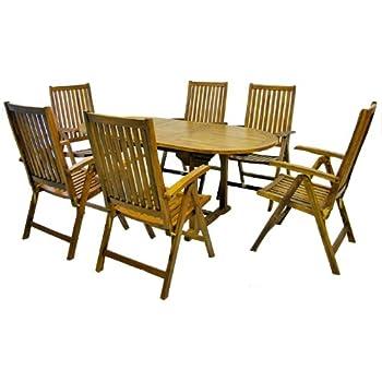 Amazon.de: MERXX Gartenmöbel-Set aus Holz, 6 Klappsessel