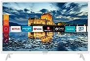 Telefunken XF32J511-W 32 Zoll Fernseher (Smart TV inkl. Prime Video / Netflix / YouTube, Full HD, Works with A
