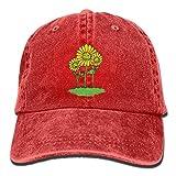 Aoliaoyudonggha Sunflower Baseball Cap for Men/Women Adjustable Unisex Plain Denim Dad Hats