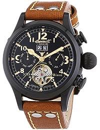 Ingersoll  Bison N0.18 - Reloj de automático para hombre, con correa de cuero, color marrón