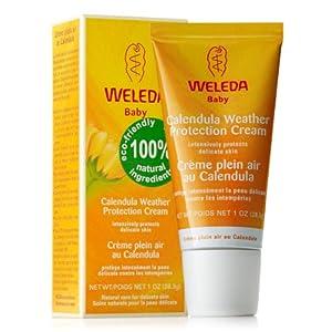 WELEDA Baby Calendula Wind- und Wetterbalsam, Naturkosmetik Gesichtscreme und Handcreme für den Schutz von trockener Haut vor rauer Witterung und Kälte (1 x 30 ml)