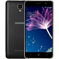 Smartphone Pas Cher Sans Forfait, DOOGEE X10 Telephone Portable Debloqué 3G (Écran: 5 Pouces IPS - 8Go - MT6570 Cortex-A7 - Appareil Photo 5MP - 3360mAh Grand Capacité - Android 6.0 - Double SIM) Noir
