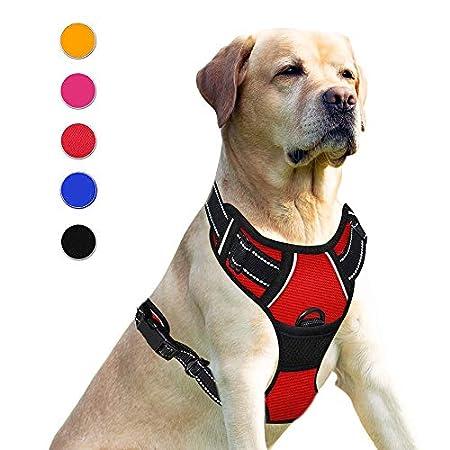 Supet Hundegeschirr Einstellbare Anti Zug Geschirr Reflektierend Atmungsaktiv Geschirr Hunde Leichtes Brustgeschirr aus…
