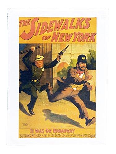 El Sidewalks de estilo retro cine–Póster de Nueva York estilo g