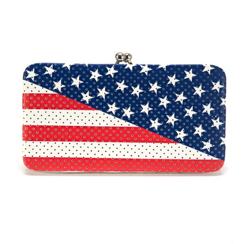 Concept One Americana American Flag Lock Hinge Wallet