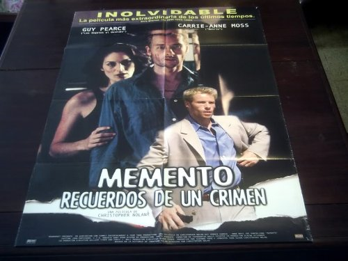 Original Latinamerican Movie Poster Memento Guy Pierce Joe Pantoliano 2000 (Memento 2000)