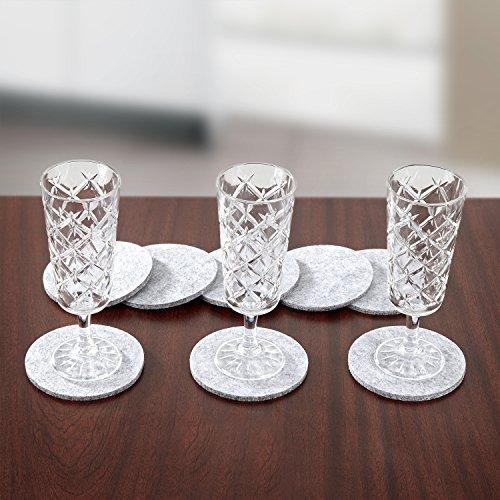 Du Monde Premium Filzuntersetzer im 8+1 Set mit multifunktionaler Aufbewahrungsbox, Untersetzer für Gläser, Glaskaraffen, Töpfe und Pfannen