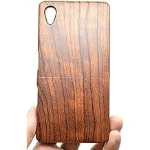 Sony Xperia Z5 Premium Funda de Madera, PhantomSky[Serie de Lujo] Natural Hecha a mano de Bambú / Madera Carcasa Case Cover para tu Smartphone - Palo de Rosa(Rose Wood)