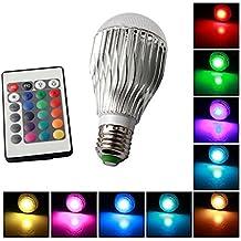 Multi-color LiteXim dimmerabile 16 colore cangiante E27 LED Gl¨¹hbirne Standard-portalampada con telecomando White 10W