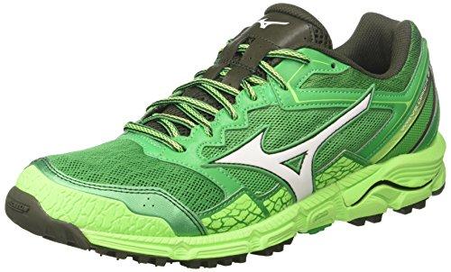 Mizuno Wave Daichi 3, Scarpe da Running Uomo, Verde (Brightgreen/White/Greengecko), 45 EU