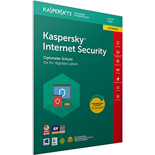 Kaspersky Internet Security 2018 Upgrade | 1 Gerät | 1 Jahr | Windows/Mac/Android | Download (Computer-software-antivirus)