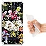 Alcatel One Touch Pop C7 Hülle, WoowCase Handyhülle Silikon für [ Alcatel One Touch Pop C7 ] Blumenstrauß Handytasche Handy Cover Case Schutzhülle Flexible TPU - Transparent