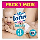 Lotus Baby Touch- Couches Taille 3 (4-9 kg) - lot de 4 packs de 44 couches (x176 couches)