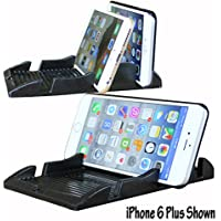 New Smart Phone Holder for Large Phones - Angle Viewing or Lay Flat - Great for Iphone 6 Plus, Iphone 6, Galaxy Note Phones, Radar Detectors a Smart Design.