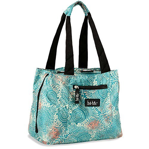 Nicole Miller Insulated Lunch Bag - 11 Womens Designer Lunch Tote Cooler (Copacabana Blue) Womens Nicole Miller