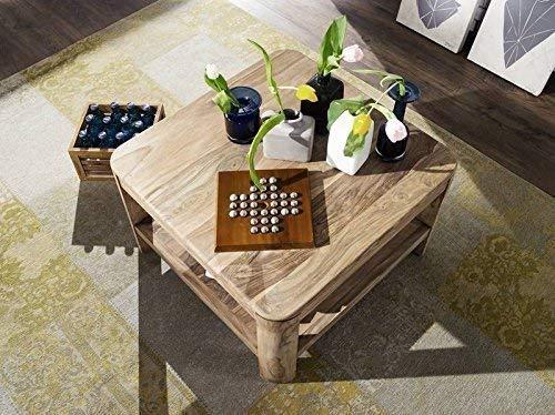 Table basse carrée 70x70cm - Bois massif de palissandre huilé (Smoked Cherry) - TORONTO #106