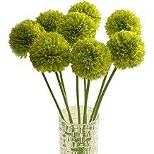 FEITONG 5pcs lavanda bola de seda artificial Ramo de flores banquete de boda de la decoración del hogar (verde)