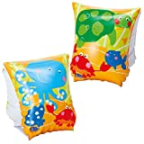 #8: Playking Intex Pair Of Inflatable Swim Full Arm Bands With Air Chambers Swimming Aids For 3 - 6 Year