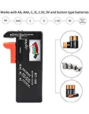 HOME CUBE 1 Pc Battery Tester for AA/AAA/C/D/9-volt Rectangular and Button Cell Batteries (BT-168 Black)