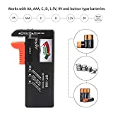 HOME CUBE 1 Pc Battery Tester for AA/AAA/C/D/9-volt Rectangular and Button Cell Batteries