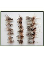 18Lot de Sedge truite mouches, élan, derer cheveux & G & H sedge, Choix de Tailles