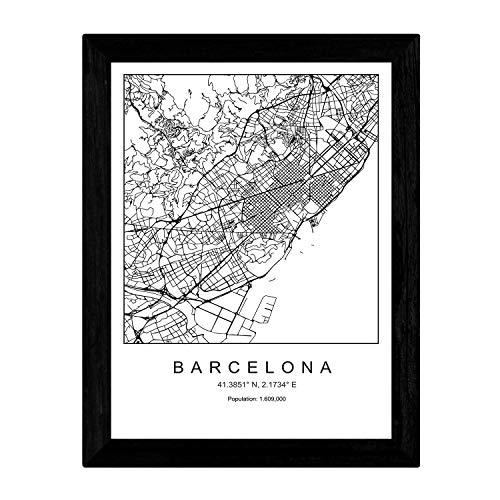 Posters de mapas de ciudades. Láminas y posters diseñados y fabricados en España con imágenes de ciudades y capitales de todo el mundo. Diseños frescos y actuales perfectos para la decoracion de espacios tanto en tu hogar como en tu negocio, oficina....