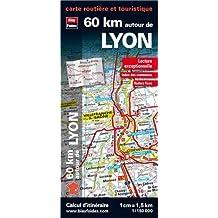 60 km autour de Lyon : 1/150 000