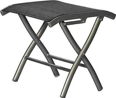 IB-Style - DIPLOMAT Fußbank Gartenset | Gartenmöbel | zusammenklappbar | silber / schwarz von IB-Style auf Gartenmöbel von Du und Dein Garten