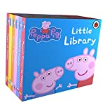 A set of six books based on the animated series Peppa Pig, the book Peppa Pig: Little Library is especially designed and written for the pre-school level children. Each book has a 8cmx8cmx8cm dimension that any small child would be able to easily ho...