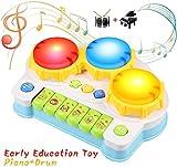 BelleStyle Giocattolo Musicale per Bambini, Tamburo e Pianoforte Strumenti Musicali con Adorabili Suoni, Gioco Educativo Prima Infanzia Perfetto Regalo per Baby