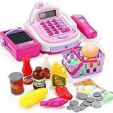 Peggy Gu Lernspielzeug für Kinder Kinderspiel-Spielzeuge können Ladungssimulationsberechnung scannen und die Registrierkasse anheben Denksportaufgaben Spielzeug Lehrreich (Farbe : Rosa)