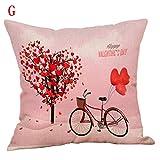 Mitlfuny Haus & Garten ->Glücklicher Valentinstag Wurfkissenbezug Sweet Love Square Kissenbezug