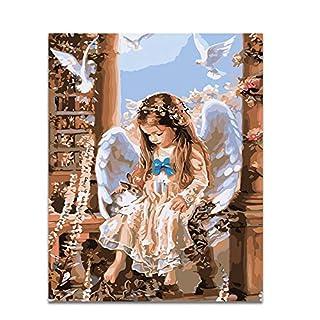 SDXGCFV Retrato Na Parede Sem Moldura Pintura Acrílica By Numbers Diy Pintura A Óleo Pintura Por Números Presente Original Anjo Coelho 40X50 Cm