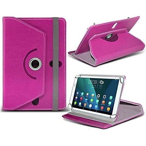 (Hot Pink) Sony Xperia Z4 Tablet [10 pollici ] caso [Copertura del supporto] per Sony Xperia Z4 Tablet [10 pollici ] Tablet PC Case Cover Tablet [Copertura del supporto] sintetica resistente pelle PU 60 Roatating coprire caso [Copertura del supporto] con 4 molle da mi- Tronixs