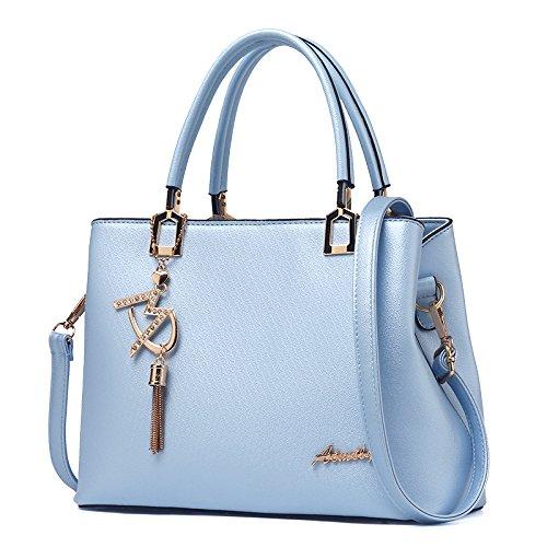 Borsetta CengBao pacchetto, la nuova marea autunno e inverno coreano di mezza età elegante e raffinato in stile minimalista madre selvatici Messenger Bag, azzurro Blu chiaro