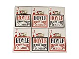 Hoyle Jumbo Index Playing Cards - 6 Sealed Decks (3 Red and 3 Blue)
