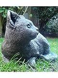 Statue de chat pour maison jardin 24x14 Charcoal (SUKI)