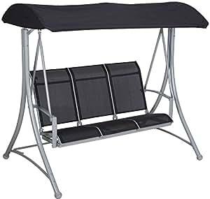 trendline hollywoodschaukel milano 3 sitzer gartenschaukel schaukelbank schaukel. Black Bedroom Furniture Sets. Home Design Ideas