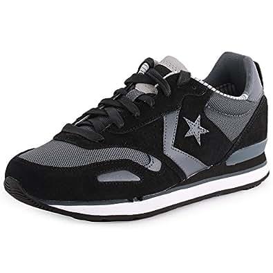 Converse Chuck Taylor All Star Racer Malden OX Hommes Sneaker Noir 144396C, Taille:44.5