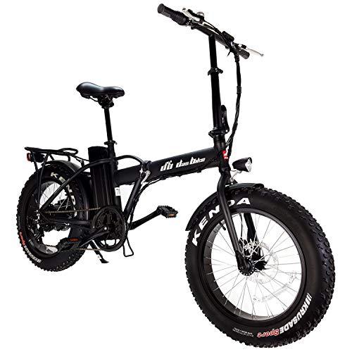 "DAS.BIKE Elektro Fat Bike 20"" Ebike Pedelec 7-Gang Shimanoschaltung mit Breiten Reifen (Metallic Schwarz)"