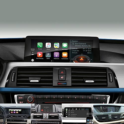 TAFFIO® AndroidAuto & Apple CarPlay Media Player Camera Interface für BMW mit NBT System 1 2 3 4 5 7 Series BMW F20 F21 F45 F30 F32 F10 F11 F01 F02 X1 X3 X4 X5 Mini F21 Radio