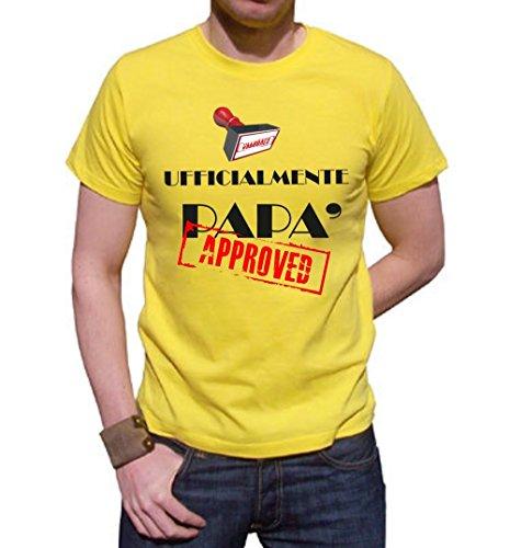 T-shirt ufficialmente papà, premaman tutte le taglie uomo donna maglietta by tshirteria