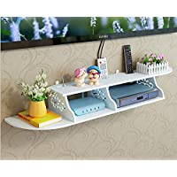 SS Arts Engineered Wood Set Top Box Stand Wall Mount (White)