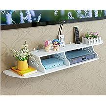 SS ARTS Engineered Wood Set Top Box & DVD Stand Wall Mount (99 cm x 24 cm x 12 cm, White)