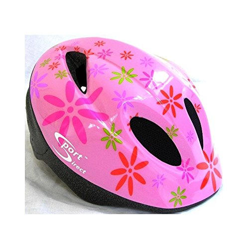 Jugend Sitz Fahrrad (Sport Direct ™ Pink Flower ™ Kinder Helm Pink 48–52cm)