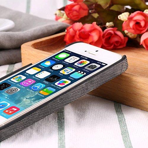 Case Cover iPhone 5S SE, copertura posteriore di plastica dura di cuoio del cowboy Jeans Texture modello per IPhone 5S SE ( Color : Brown , Size : IPhone 5S SE ) Blue