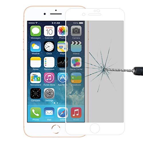 YANSHANG Schutzglas-Bildschirm Anti-Scratch 9H 10D Vollbild Datenschutz Blendschutz gehärtetes Glas Film für iPhone 8 Plus & 7 Plus (schwarz) Gehärtetes Glas (Farbe : Weiß)