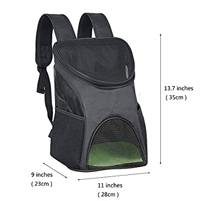 Ewolee Pet Carrier Backpack Breathable Shoulder for Puppy Up To 8lbs Head Out Travelling Pet Bag Free Collapsible Dog… 2